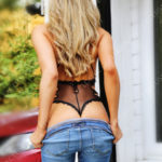 Amazing Esme removing Jeans for an erotic massage in surrey.