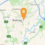 Woking map approximate location