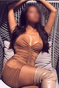 Neena tanned and bronce dress