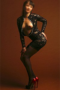 Molly dress unzipped showing her breasts, Escort in Surrey