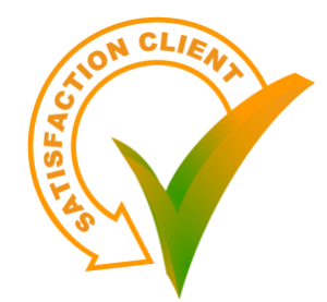 Tick with client satisfaction arrow