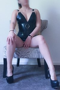 Wrapped in a rubber dress