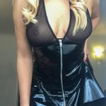Big Bossom Blonde in PVC