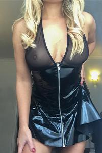 Big Bossom Blonde in PVC