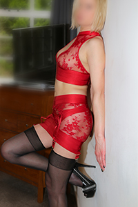 Cassie red expensive lingerie